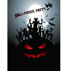Hallowen party background vector