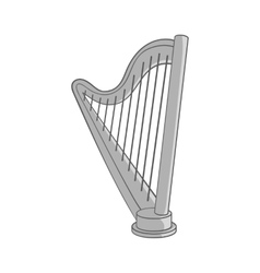 Harp icon black monochrome style vector image