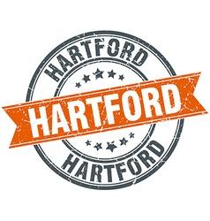 Hartford red round grunge vintage ribbon stamp vector