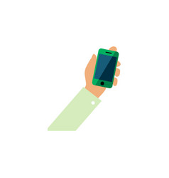 Isolated cellphone flat icon keep phone vector