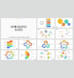 large bundle of minimal infographic design vector image