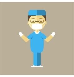 Man surgeon icon vector