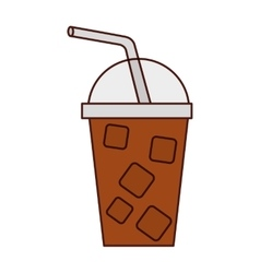 milkshake drink isolated icon vector image