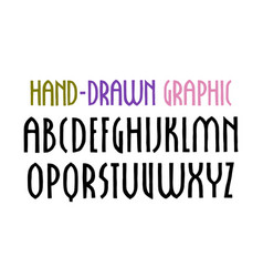 narrow sanserif font in new gothic style vector image vector image