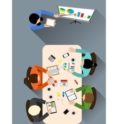 Office meeting room vector