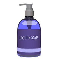 Purple soap bottle vector image
