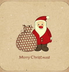 Santa and bag with gifts vector