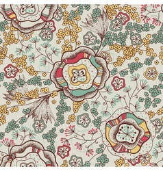 Seamless pattern and abstract flowers vector image vector image