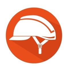 Security industrial helmet icon vector