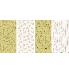 Set of seamless patterns backgrounds vector image vector image