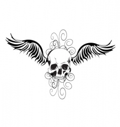 skull tattoo design vector image