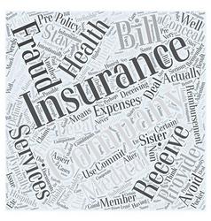 Stay legal avoiding insurance fraud word cloud vector