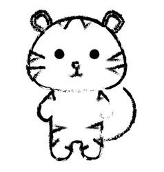 Stuffed animal tiger vector