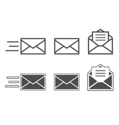 symbols of receiving mail opening envelope vector image vector image