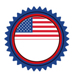 united states of america emblematic seal vector image