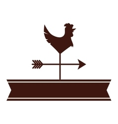 Weathercock or vane icon image vector