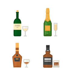 Alcohol drinks beverages cocktail whiskey drink vector