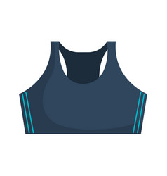 Shirt female gym wear vector