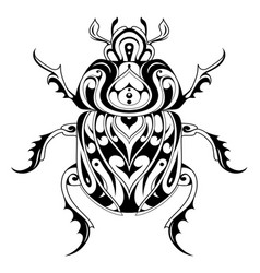 Tribal style bug tattoo vector