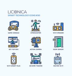 Smart technology - modern flat line desigm vector