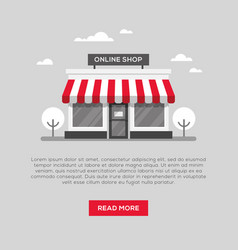 Storefront in flat style vector