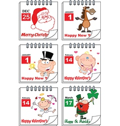 Holiday calendars vector
