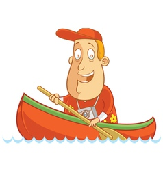 Tourist canoe vector