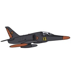 Black aircraft vector
