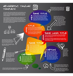 Dark Infographic timeline report template made vector image