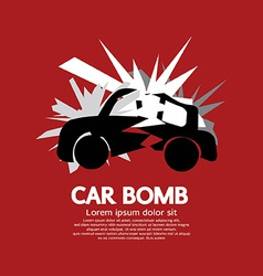 Car bomb graphic vector