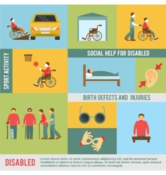 Disabled icons set vector