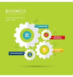 Business teamwork concept with gear icons vector