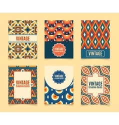 Template vintage creative cards vector