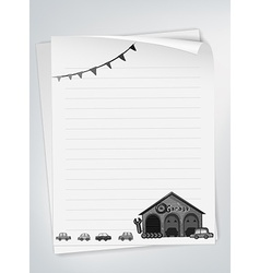 Letter pad vector image