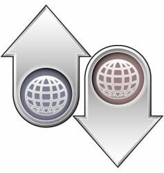 globe arrows vector image