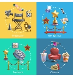 Cinema concept set vector image