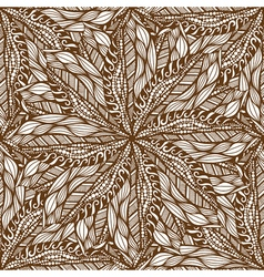 Seamless brown pattern vector