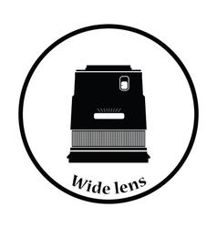 Icon of photo camera wide lens vector