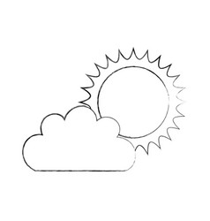 Beautiful fantasy cloud with sun vector