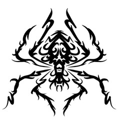 beautiful spider exotic insect tattoo vector image vector image