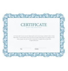 Certificate template diplomas currency vector