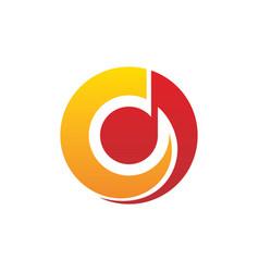 Circle tone music vector