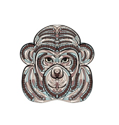 ethnic monkey vector image vector image
