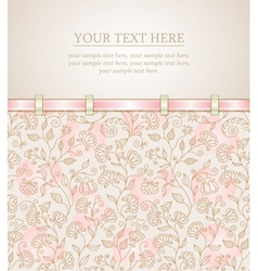 Floral background greeting card template vector image vector image