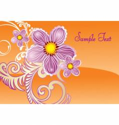 floral document vector image vector image