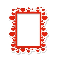 frame of hearts vector image vector image