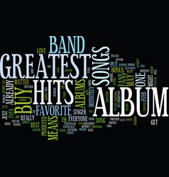 Greatest hits text background word cloud concept vector