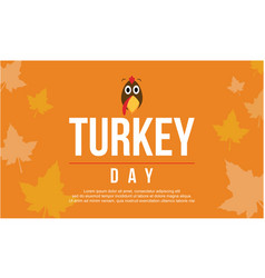 Greeting card turkey day collection vector