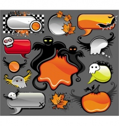 halloween labels vector image vector image
