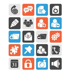 Internet blogging icons vector